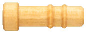 Custom_Wood__Axle_with_Rings_.250_D_X_.750_L.jpg, custom wood turned axle with rings on shaft, ringed wood axle