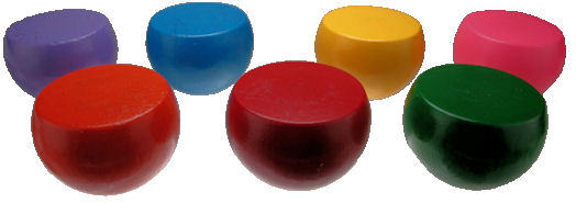 Custom_Round_Balls_with_Flats___painted.jpg, painted wood balls, custom wooden balls, wood turning USA