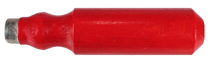 Screw_Driver_Handle_Painted_Red_with_Ferrule.jpg, wood scredriver handle made in usa, old fashioned wood scredriver handle