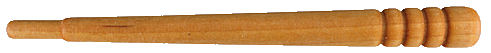 Wood_Gavel_Handle.jpg, small tapered wood handle, small wood handle with 4 grooves near end