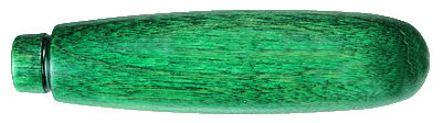 Wooden_Utility_Knife_Handle___Green.jpg, wood utility knif handle stained green, utility handle with groove on end for ferrule