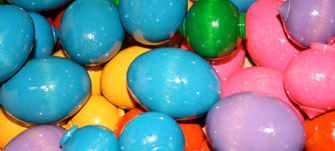 finishprods2_easter_Eggs.jpg, painted easter eggs, colorfully painted easter eggs, tumble finished wood parts