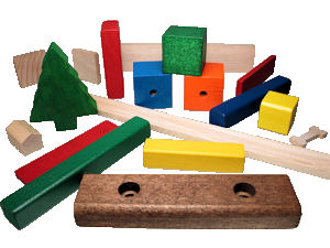 Custom_Molded_Wood_Parts___assorted.jpg, custom molded wooen parts, painted wood shapes, toy parts made in usa